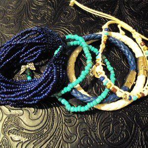 Halcraft USA Bracelet Set~6 total Stretch & Toggle